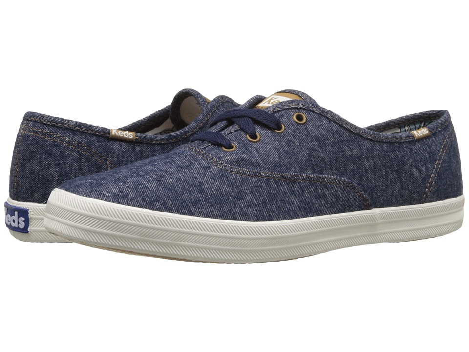 Keds - Champion Brushed Denim (Indigo) Women's Lace up casual Shoes