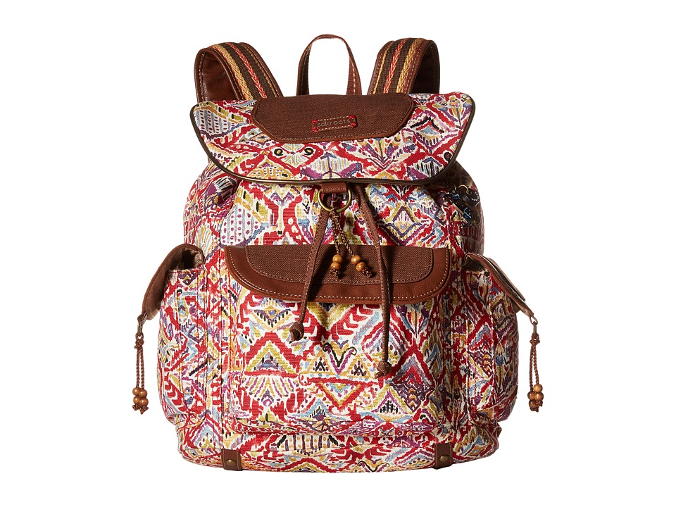 Sakroots - Sakroots Artist Circle Flap Backpack (Sweet Red Brave Beauti) Backpack Bags