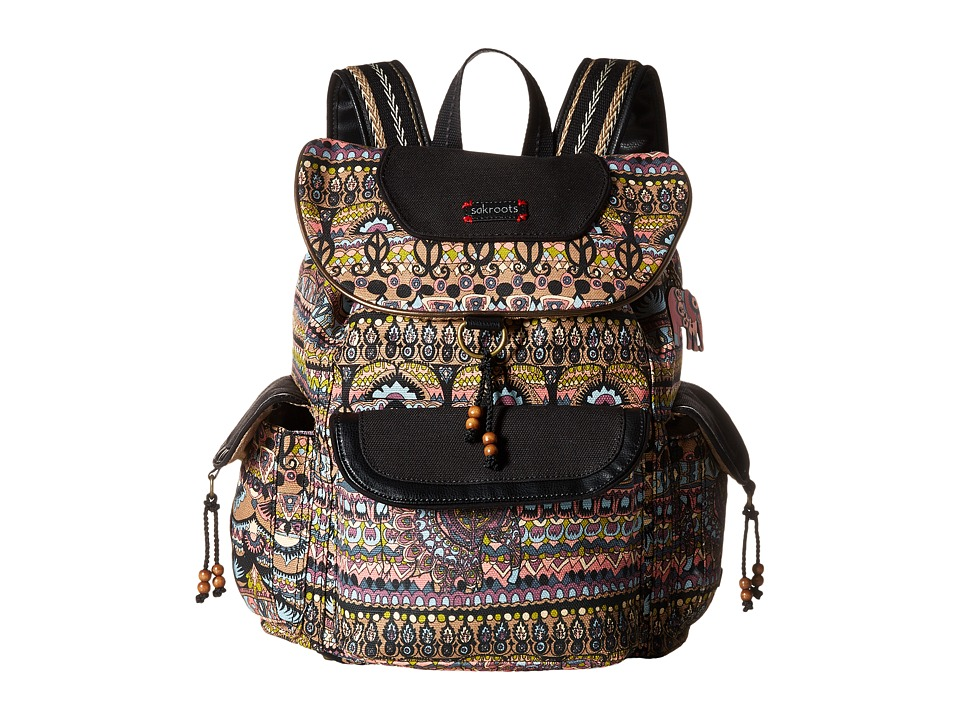 Sakroots - Sakroots Artist Circle Flap Backpack (Taupe One World) Backpack Bags