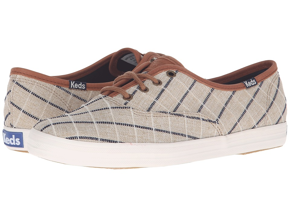 Keds Champion Windowpane Plaid (Tan) Women