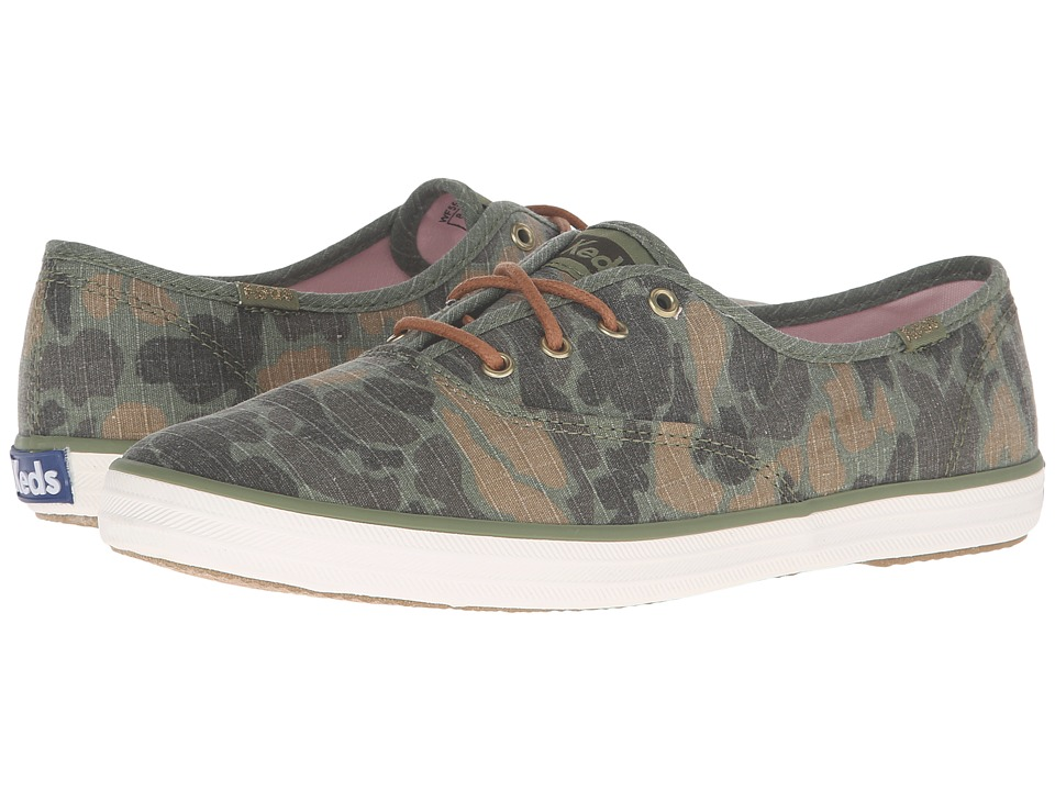 Keds - Champion Camo Ripstop (Olive) Women's Lace up casual Shoes