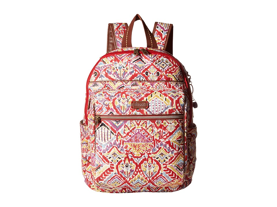 Sakroots - Artist Circle Cargo Backpack (Sweet Red Brave Beauti) Backpack Bags