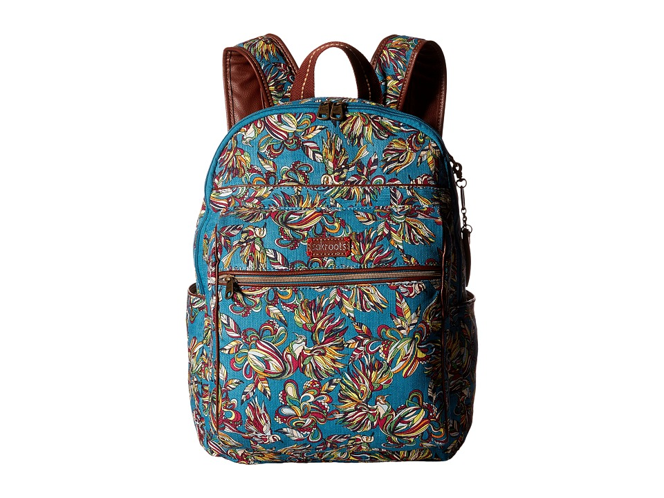 Sakroots - Artist Circle Cargo Backpack (Teal Treehouse) Backpack Bags