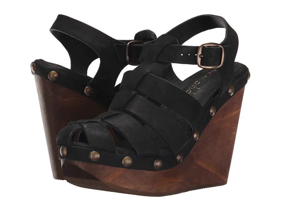 Cordani - Duran (Black Nubuck) Women's Wedge Shoes