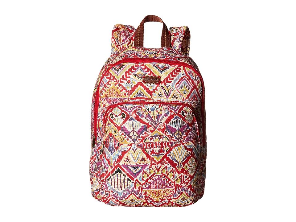 Sakroots - Artist Circle Medium Backpack (Sweet Red Brave Beauti) Backpack Bags