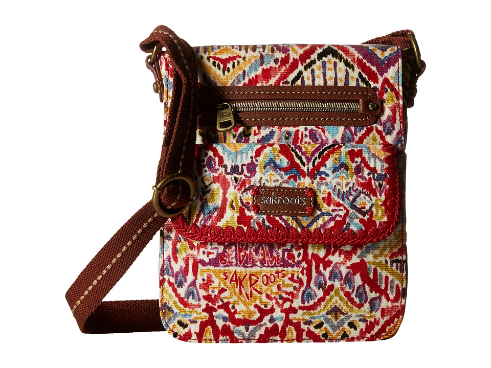Sakroots - Artist Circle Small Flap (Sweet Red Brave Beauti) Cross Body Handbags