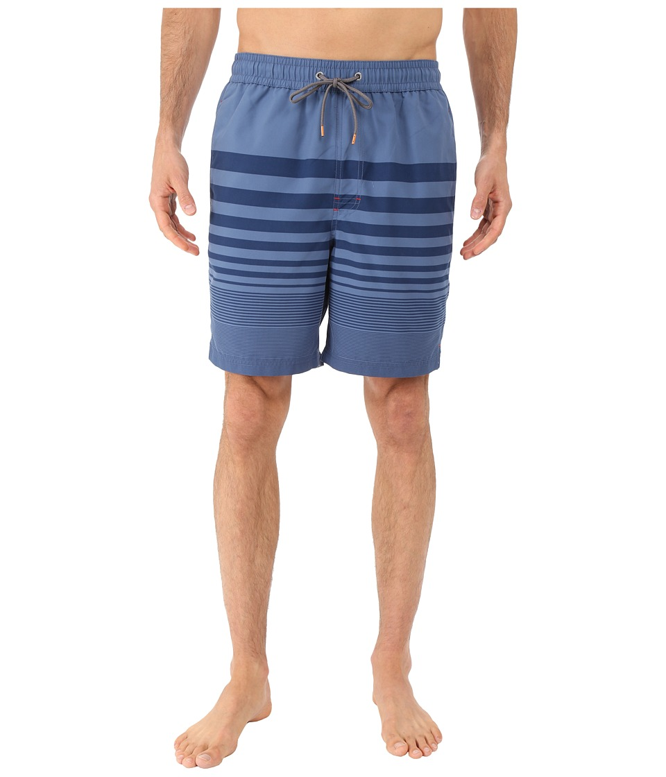 Thomas Dean & Co. - Stripe Board Short (Dark Blue) Men's Swimwear