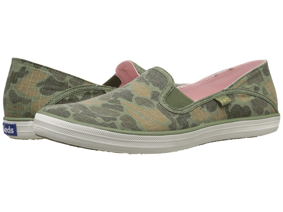 Keds - Crashback Camo Ripstop (Olive Camo) Women's Slip on Shoes