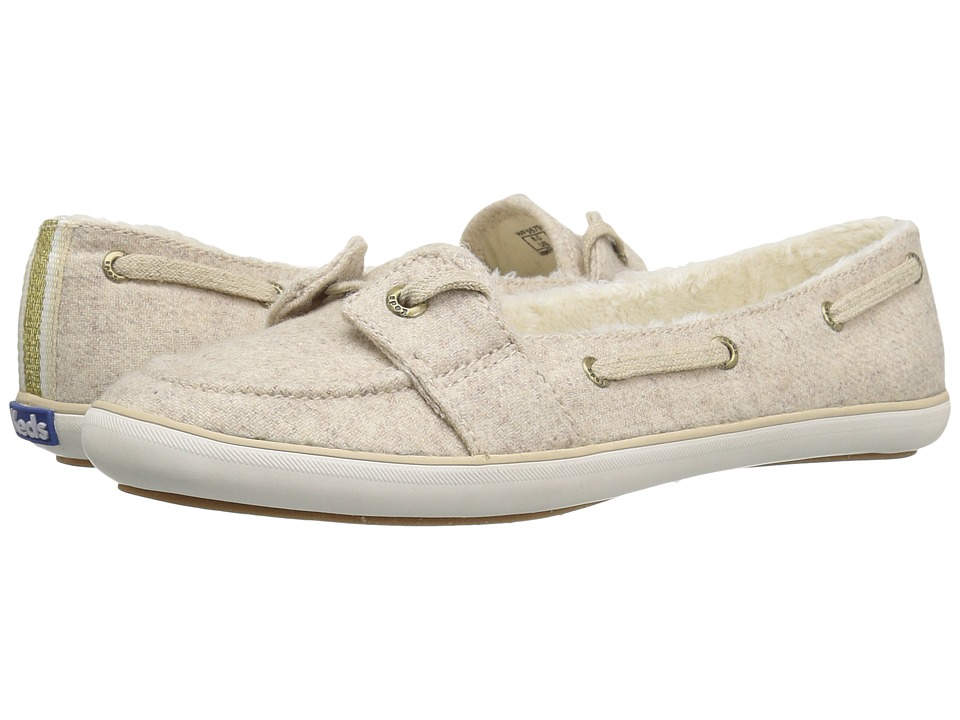 Keds Teacup Boat Wool Shearling (Oatmeal) Women