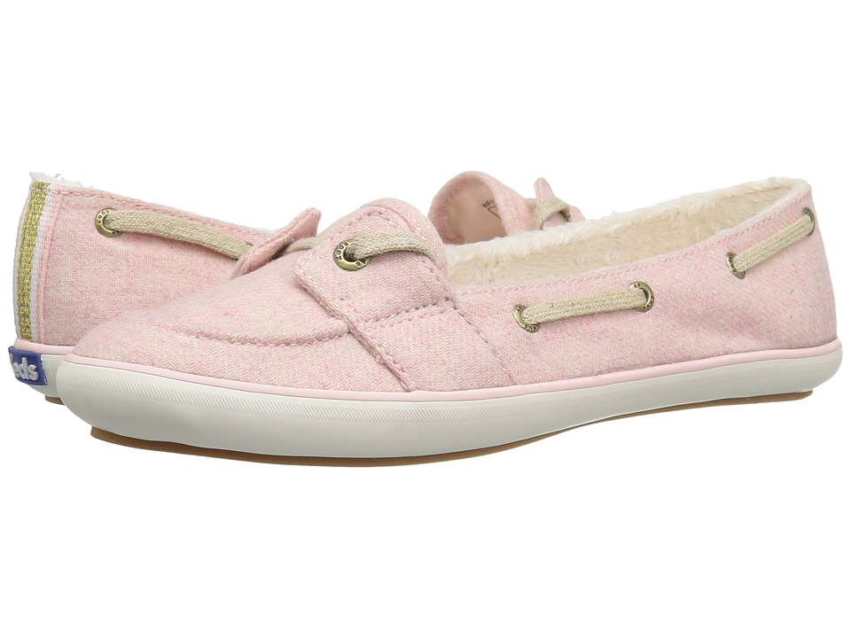 Keds Teacup Boat Wool Shearling (Strawberry Pink) Women