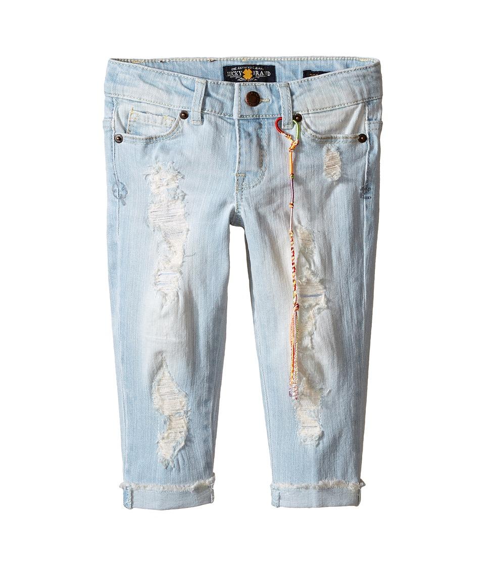 Lucky Brand Kids - Bleack Ankle Zoe Top (Little Kids) (Cloud Beach Wash) Girl's Jeans