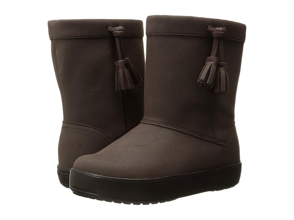 Crocs Kids - LodgePoint Boot K (Toddler/Little Kid) (Espresso) Girls Shoes