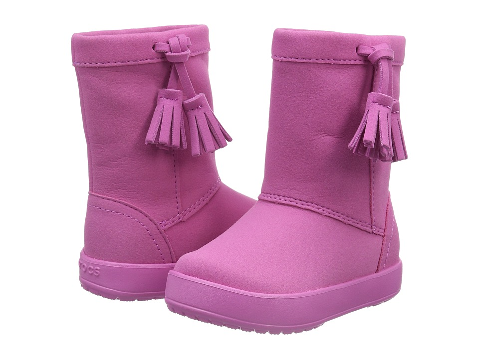 Crocs Kids LodgePoint Boot K (Toddler/Little Kid) (Party Pink) Girls Shoes