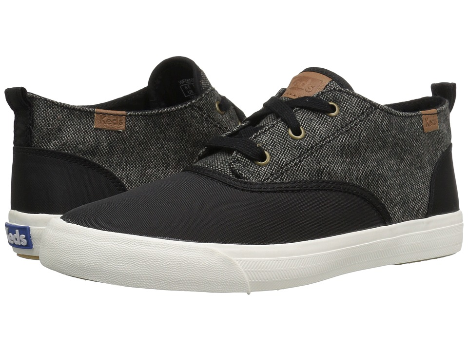 Keds - Triumph Mid Nylon Tweed (Dark Gray) Women's Lace up casual Shoes