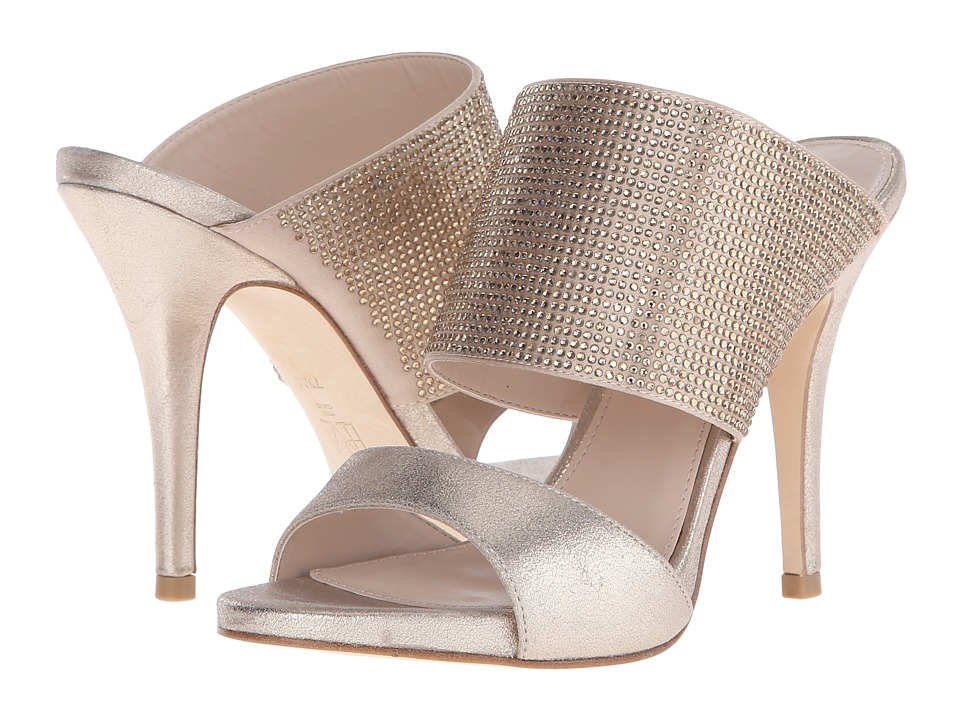 Pelle Moda Josie 2 (Platinum Gold Metallic Kid Suede) High Heels