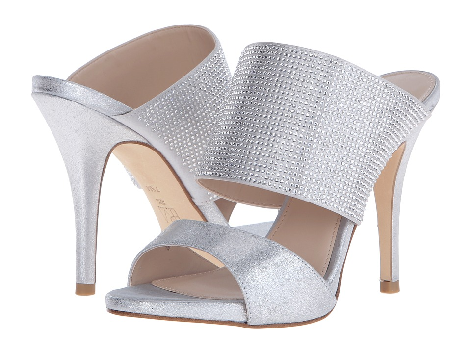 Pelle Moda - Josie 2 (Silver Metallic Kid Suede) High Heels