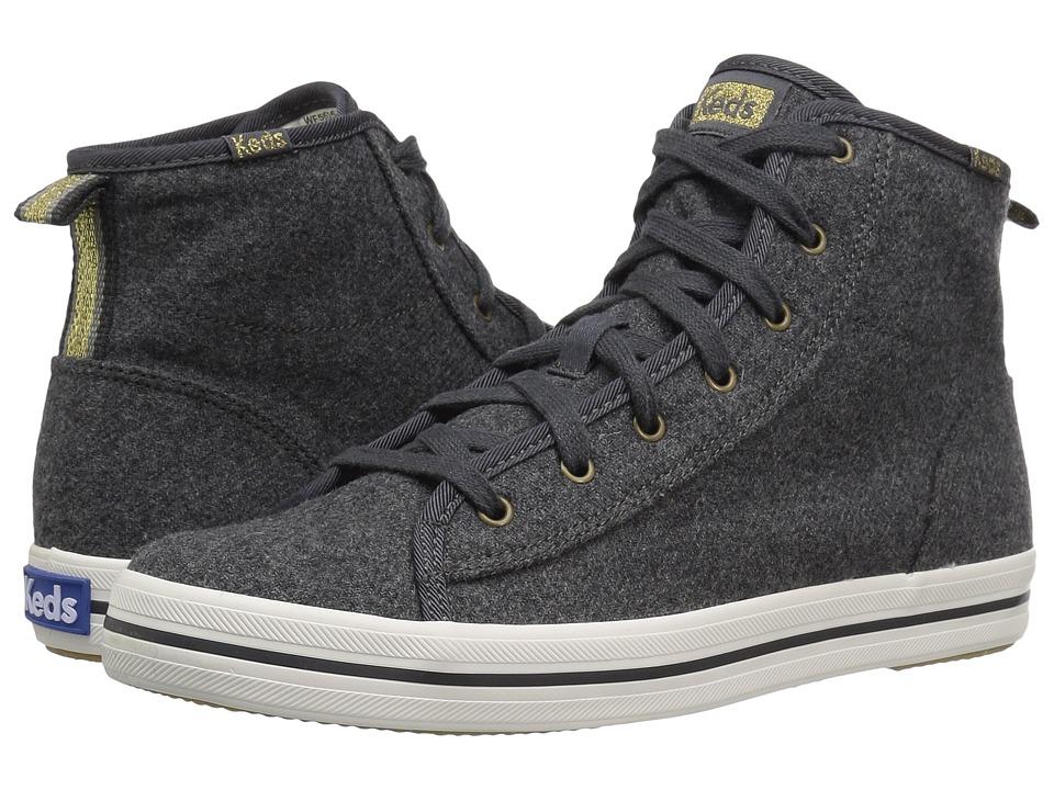 Keds - Kickstart Hi Wool Shearling (Charcoal) Women's Shoes