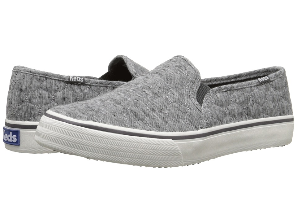 Keds - Double Decker Quilted Jersey (Heathered Charcoal 2) Women's Slip on Shoes