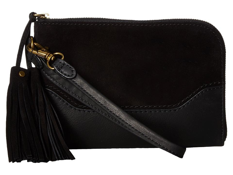 Frye - Paige Wristlet (Black 1) Wristlet Handbags