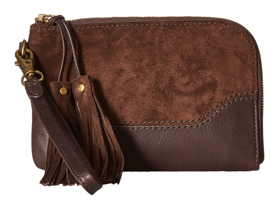 Frye - Paige Wristlet (Dark Brown 1) Wristlet Handbags