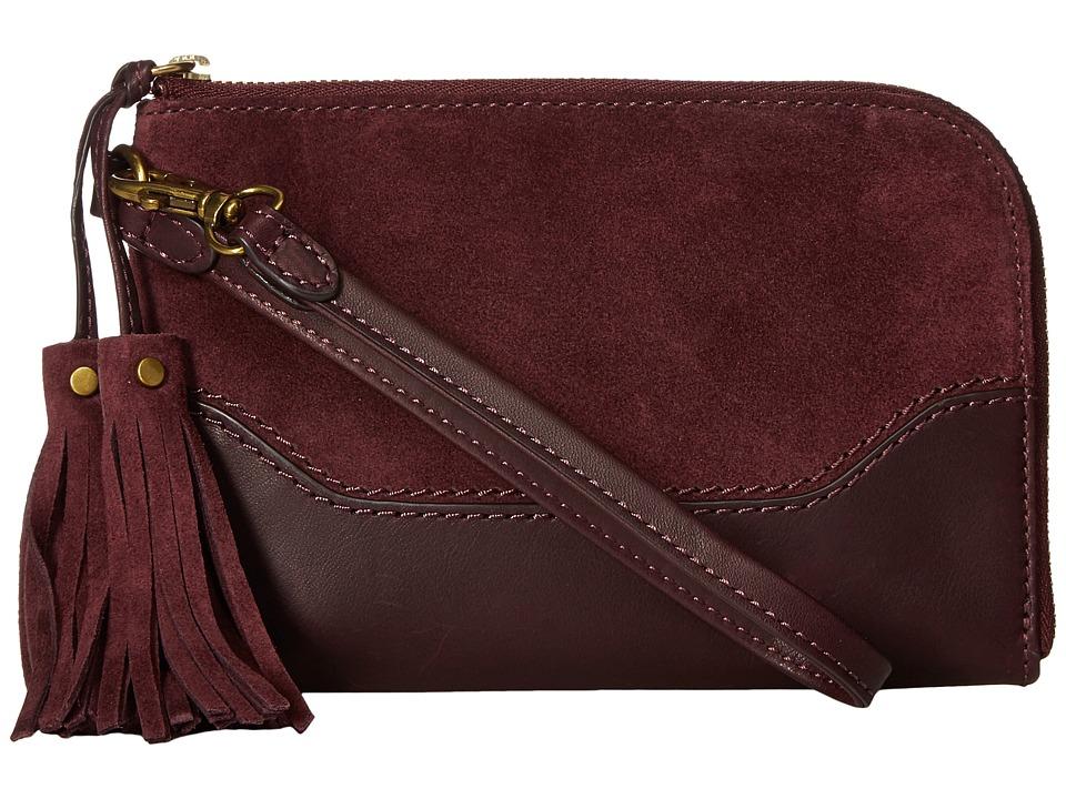 Frye - Paige Wristlet (Wine 1) Wristlet Handbags