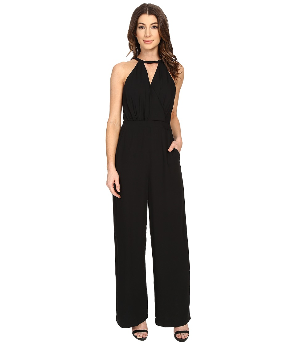 Adelyn Rae - Tank Jumpsuit w/ Pockets (Black) Women's Jumpsuit & Rompers One Piece