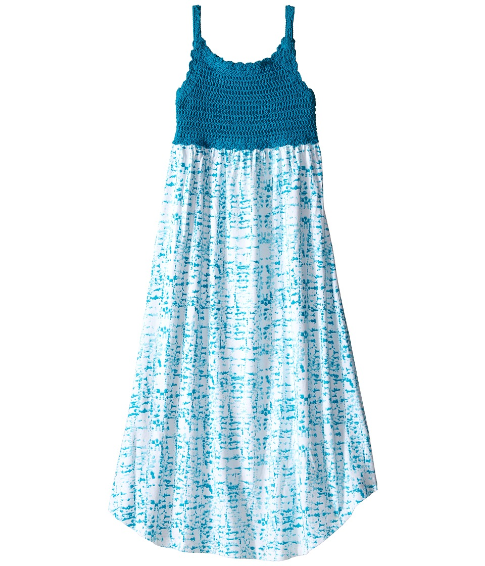 Lucky Brand Kids - Crochet Bodice Dress (Big Kids) (Tile Blue) Girl's Dress