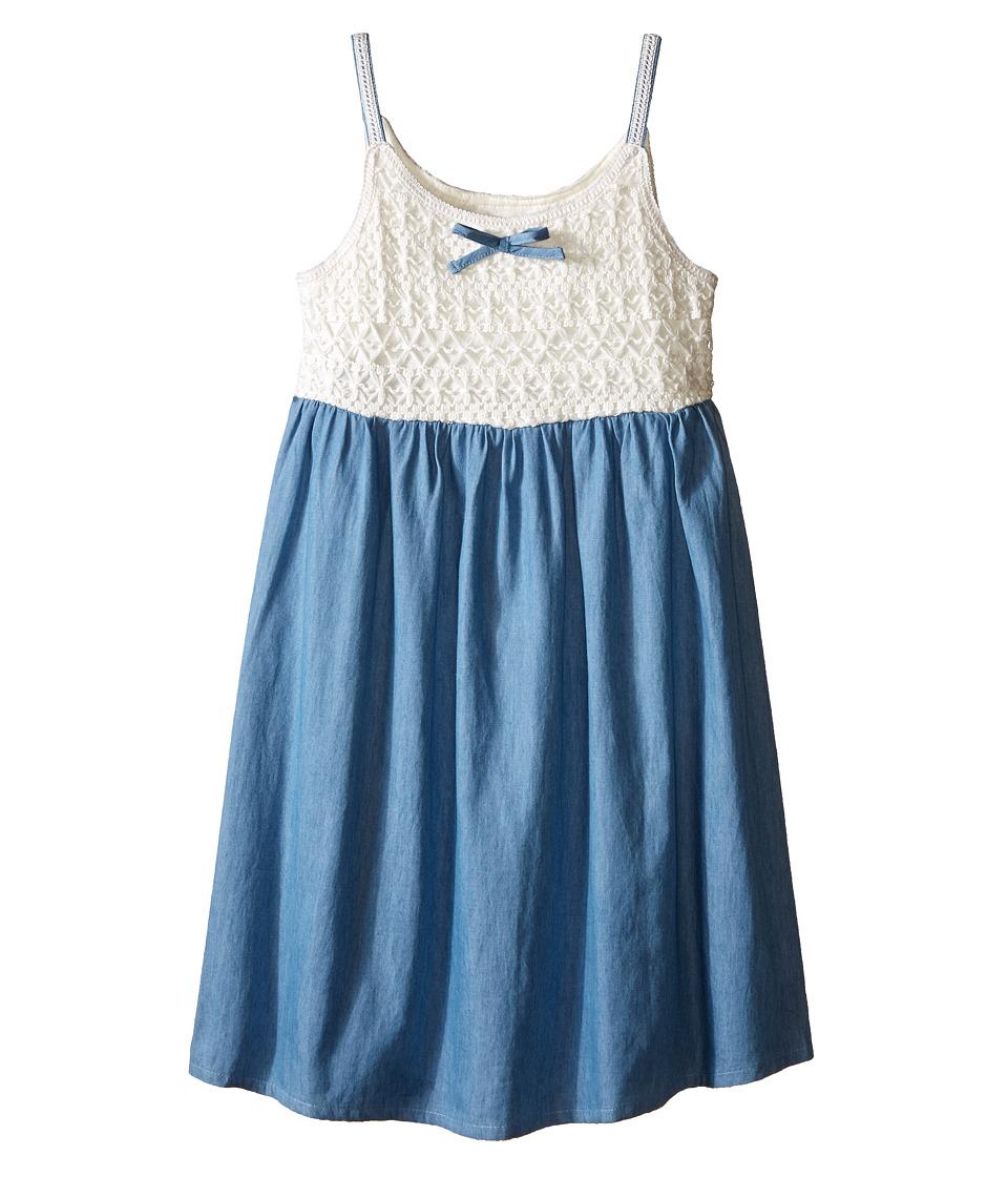 Lucky Brand Kids - Crochet Bodice Dress (Little Kids) (Bleach Wash) Girl's Dress