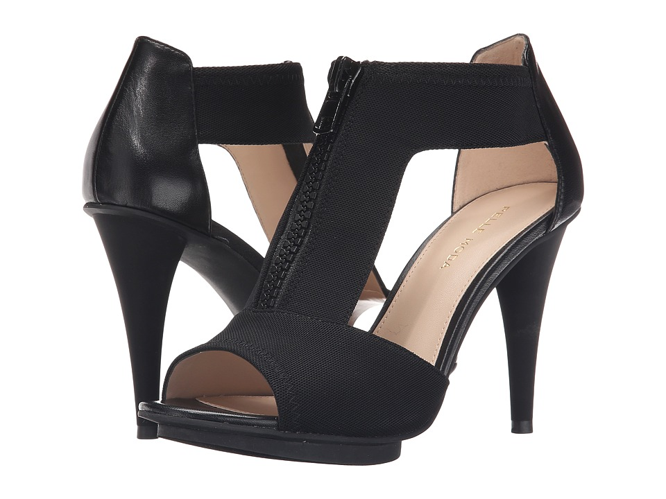 Pelle Moda - Merit (Black Stretch Mesh/Kid) High Heels