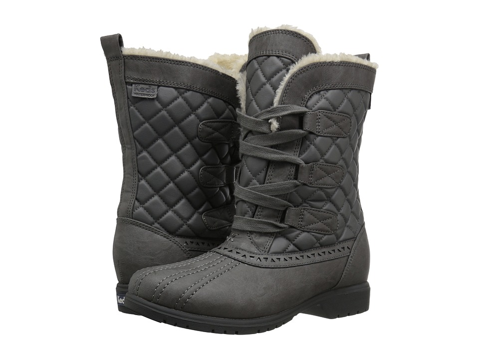 Keds - Snowday (Gray) Women's Cold Weather Boots