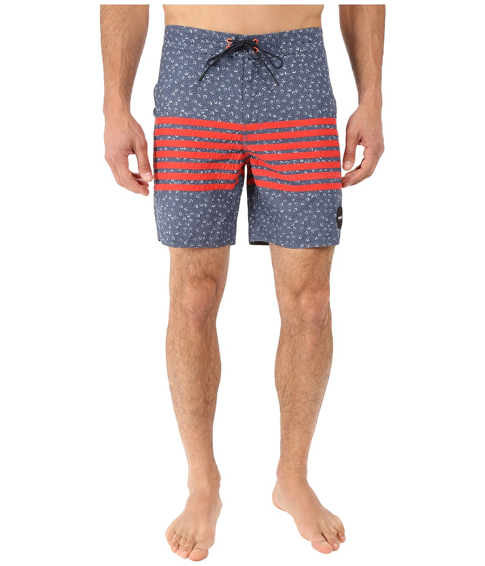 RVCA - Sin in Peace Trunk (Dark Denim) Men's Swimwear