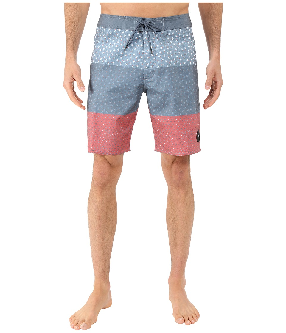 RVCA - Triples Trunk (Dark Denim) Men's Swimwear