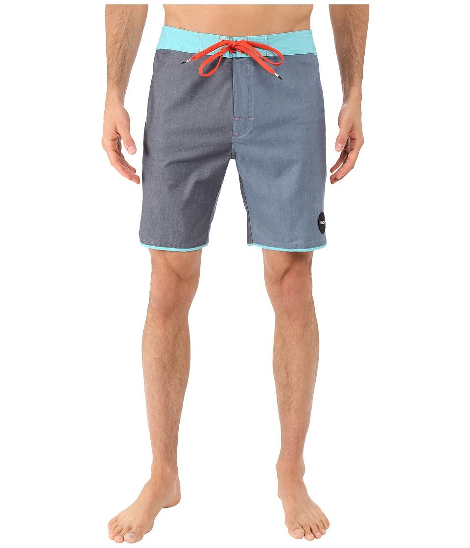 RVCA - South Eastern Trunk (Dark Denim) Men's Swimwear