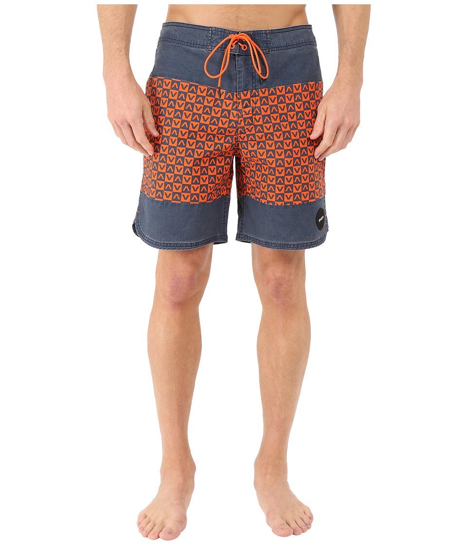RVCA - Va Classic Trunk (Dark Denim) Men's Swimwear