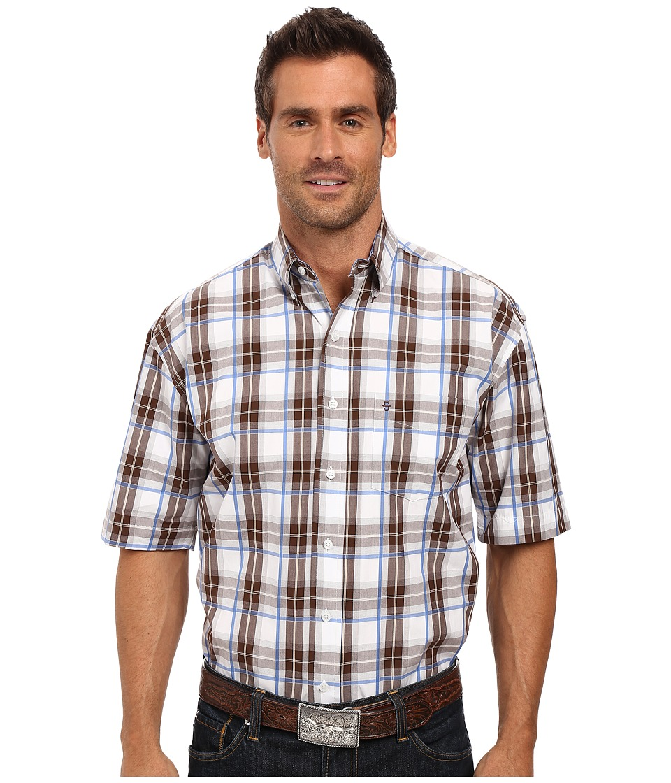 Stetson - Blue Springs Button Front Two-Pocket Short Sleeve Shirt (Brown) Men's Clothing