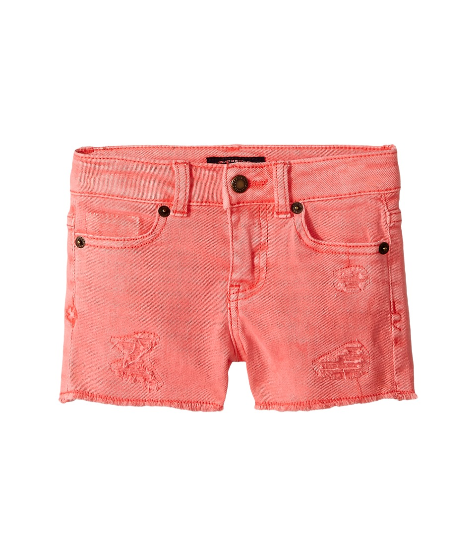 Lucky Brand Kids - Rip and Repair Reily Shorty Shorts (Toddler) (Sugar Coral) Girl's Shorts