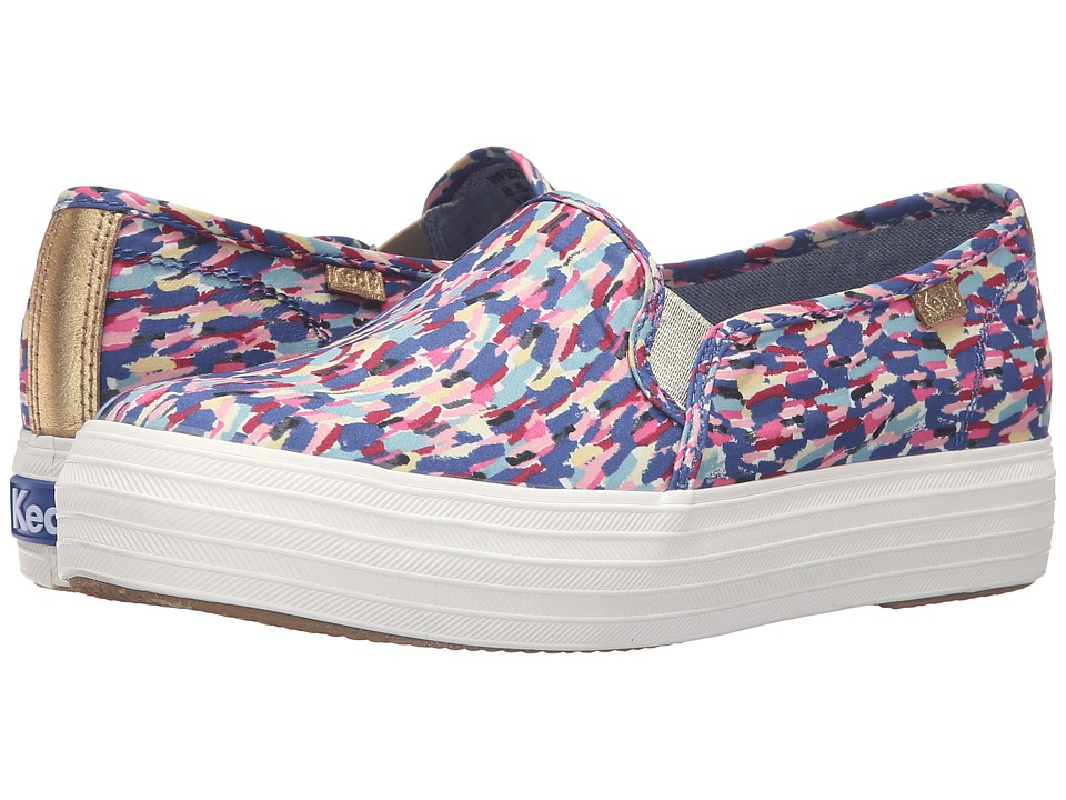 Keds - Triple Decker Liberty Meadow (Pink Multi) Women's Slip on Shoes