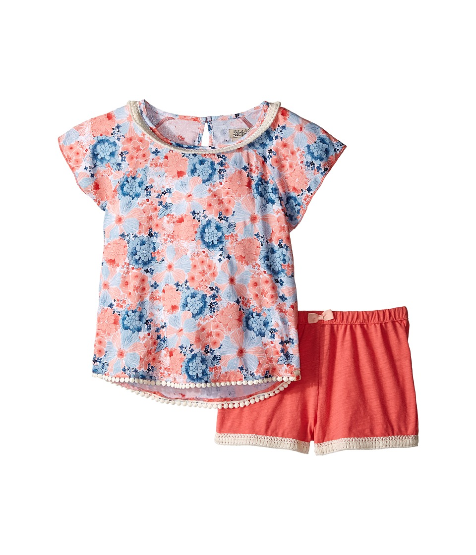 Lucky Brand Kids - Flora Printed Set (Little Kids) (Sugar Coral) Girl's Active Sets