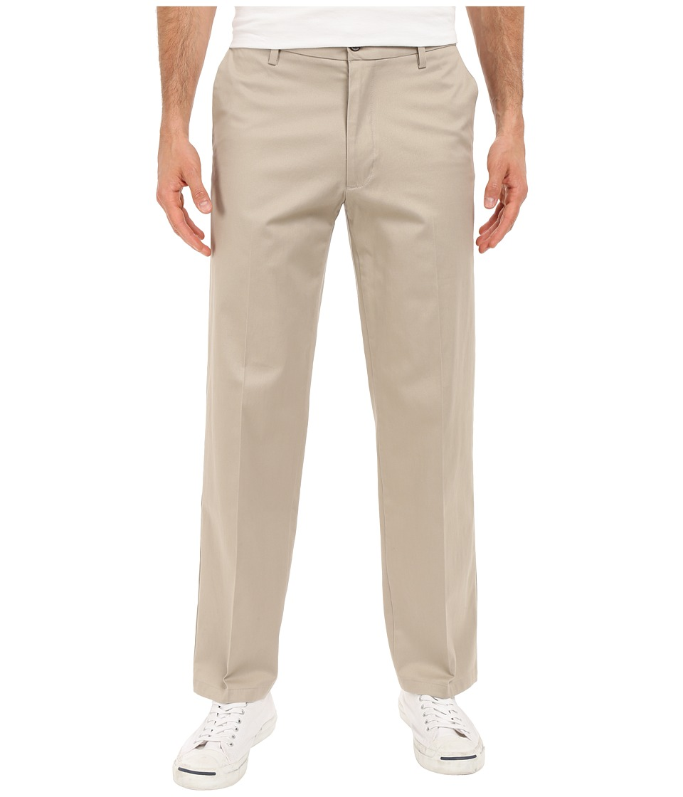 Dockers Men's - Signature Khaki D2 Straight Fit Flat Front (Safari Beige Stretch) Men's Casual Pants