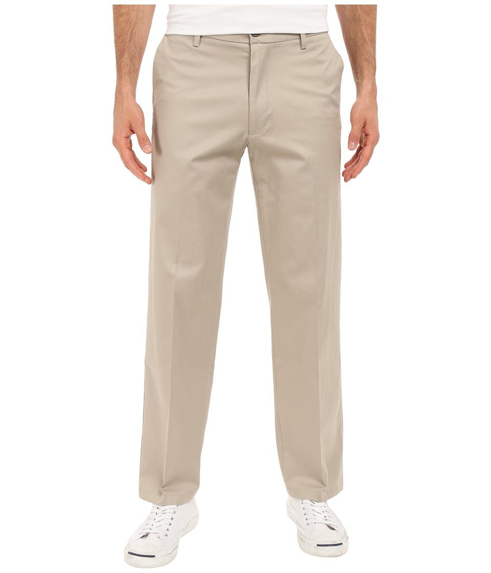 Dockers Men's - Signature Khaki D2 Straight Fit Flat Front (Safari Beige Stretch) Men's Casual Pants