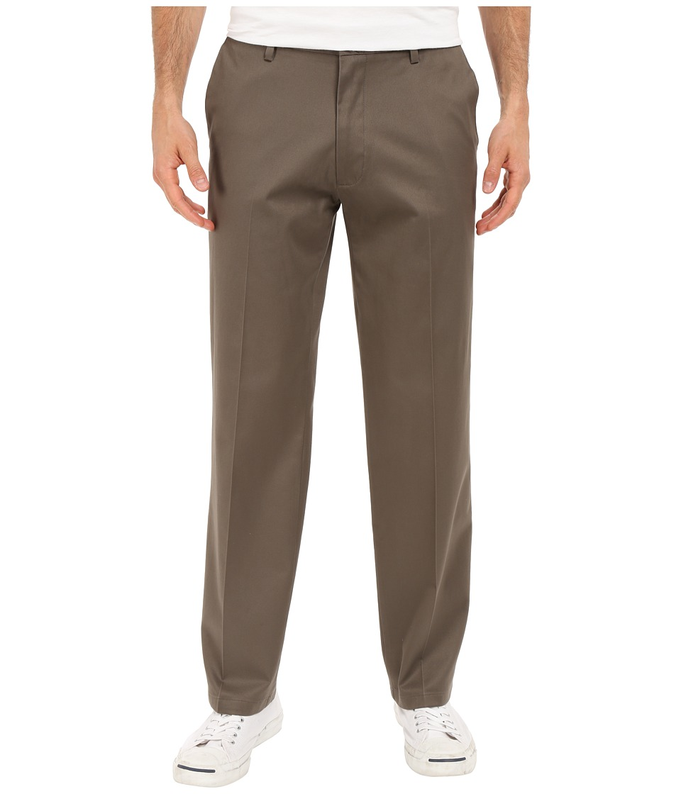 Dockers Men's - Signature Khaki D2 Straight Fit Flat Front (Dark Pebble Stretch) Men's Casual Pants