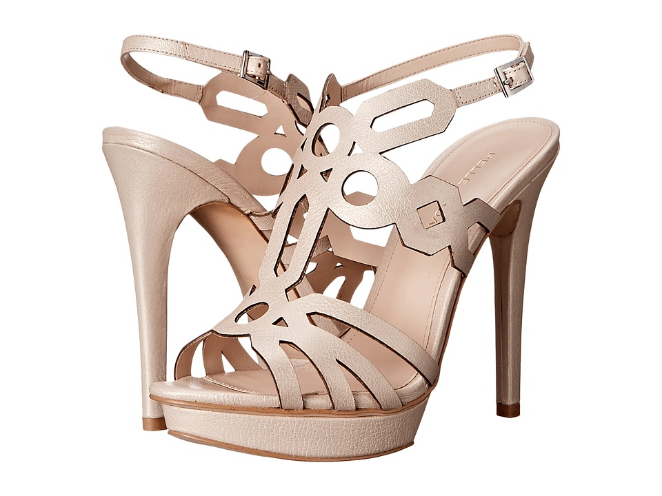 Pelle Moda Faine (Cream Pearlized Nappa) High Heels