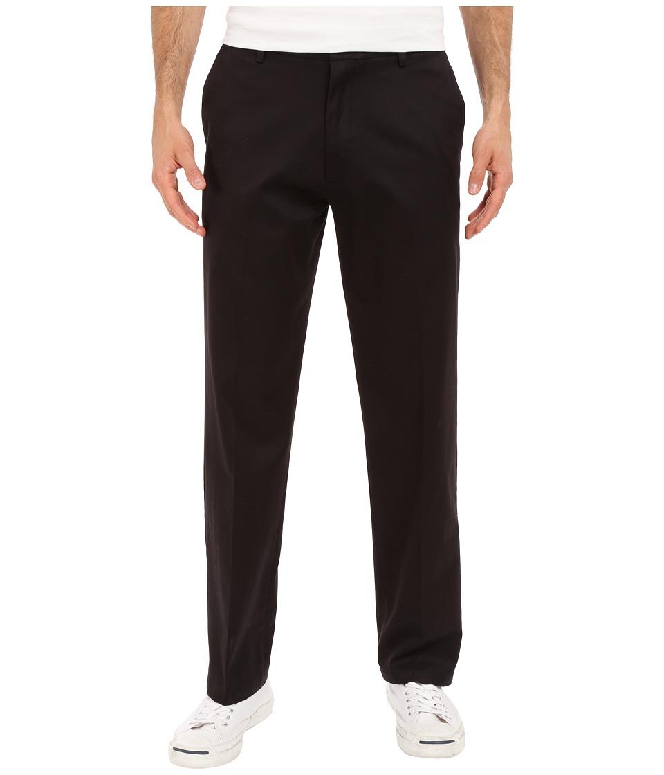 Dockers Men's - Signature Khaki D2 Straight Fit Flat Front (Black Stretch 1) Men's Casual Pants