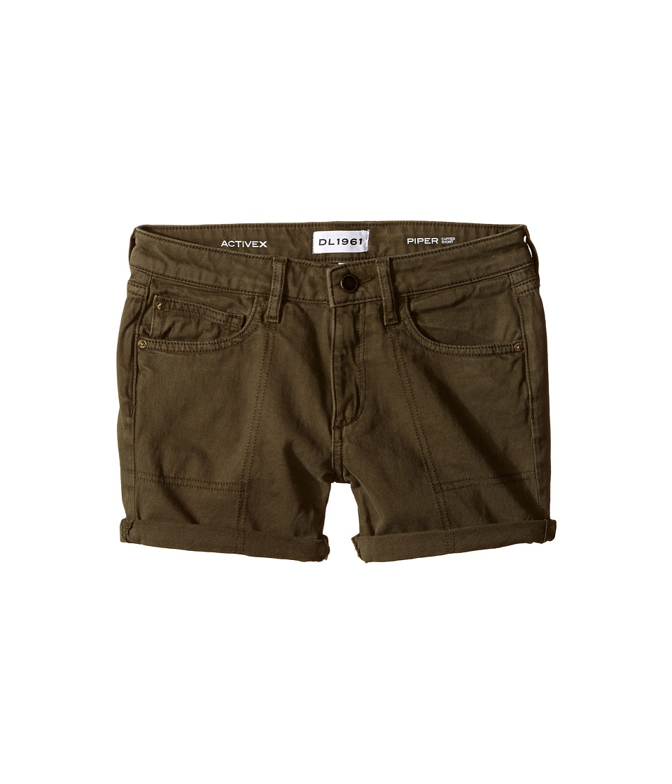 DL1961 Kids - Piper Olive Green Twill Cuffed Shorts in Ranchers (Big Kids) (Ranchers) Girl's Shorts