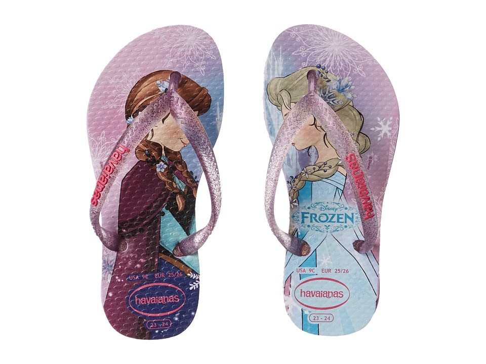 Havaianas Kids - Slim Princess Disney Flip Flops (Toddler/Little Kid/Big Kid) (Lilac) Girl's Shoes