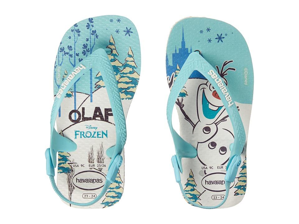 Havaianas Kids - Baby Frozen Flip Flops (Toddler) (White) Girls Shoes