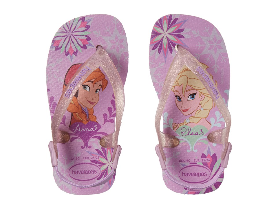 Havaianas Kids - Baby Frozen Flip Flops (Toddler) (Lilac) Girls Shoes