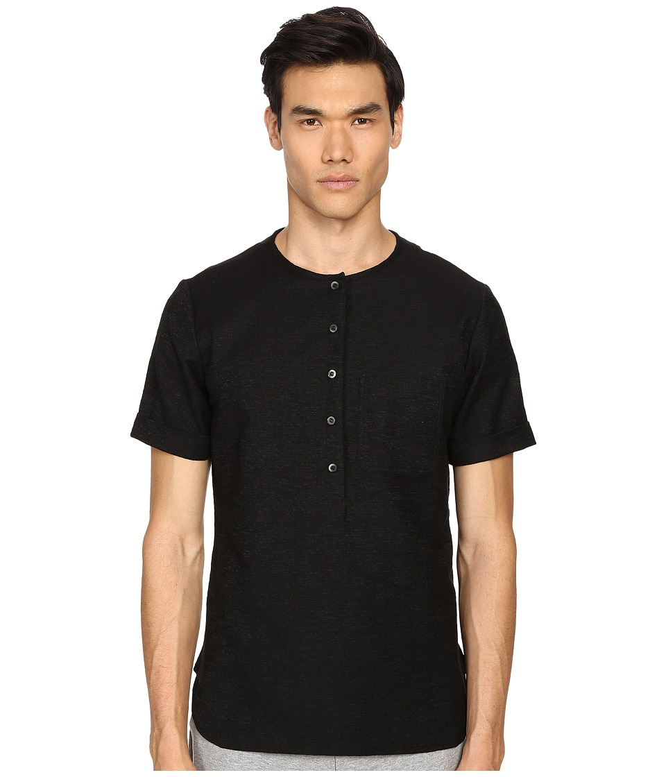 Matiere - Maas Japanese Textured Slub Tunic (Black) Men's Clothing