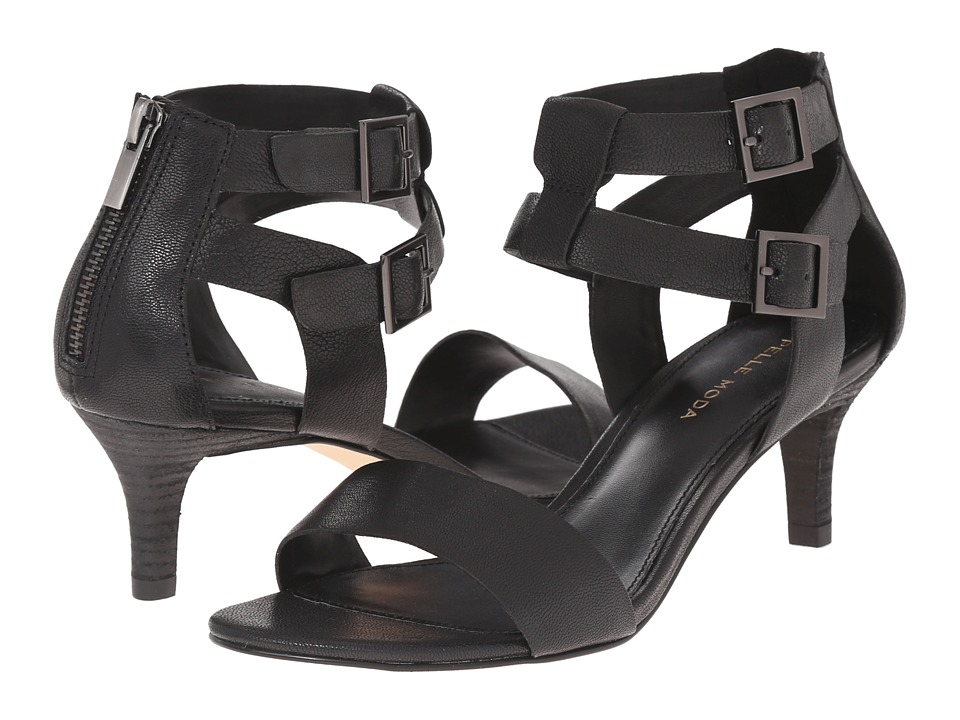 Pelle Moda - Bevin (Black Tumbled Leather) High Heels