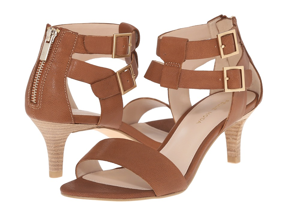 Pelle Moda - Bevin (Cognac Tumbled Leather) High Heels